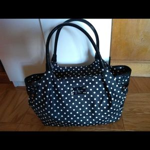 Kate Spade Black and White Polka Stevie Diaper Bag